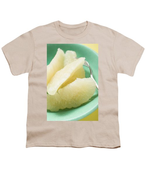 Grapefruit Segments On Plate With Fork Youth T-Shirt