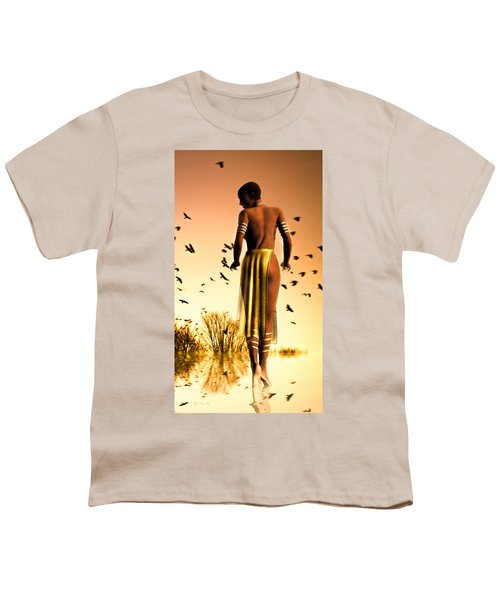 Her Morning Walk Youth T-Shirt