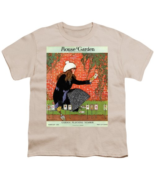 House And Garden Garden Planting Number Cover Youth T-Shirt