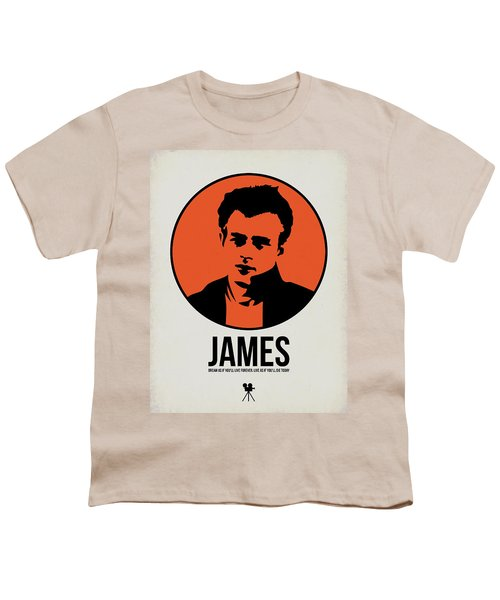 James Poster 1 Youth T-Shirt by Naxart Studio