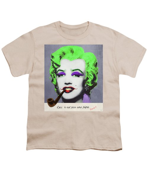 Joker Marilyn With Surreal Pipe Youth T-Shirt by Filippo B