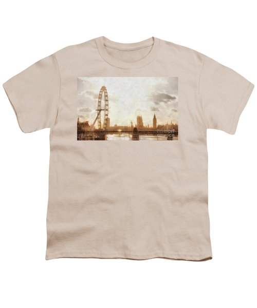 London Skyline At Dusk 01 Youth T-Shirt by Pixel  Chimp