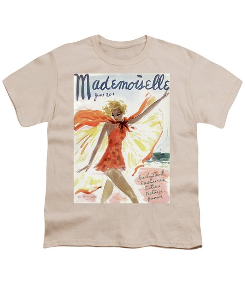 Mademoiselle Cover Featuring A Model At The Beach Youth T-Shirt