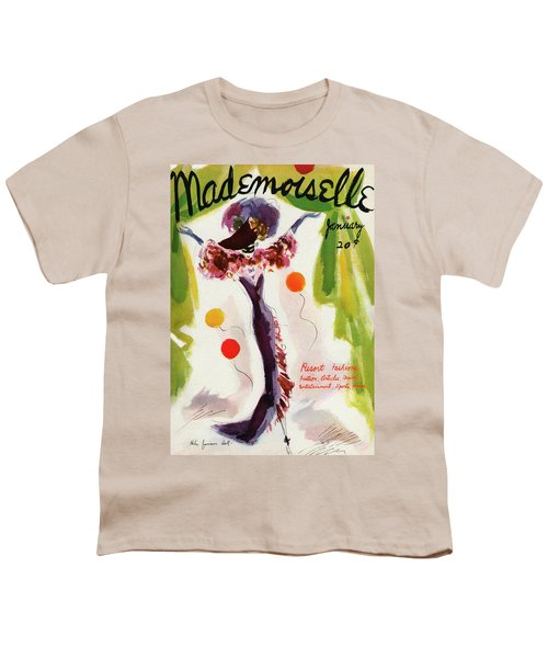 Mademoiselle Cover Featuring A Model Wearing Youth T-Shirt