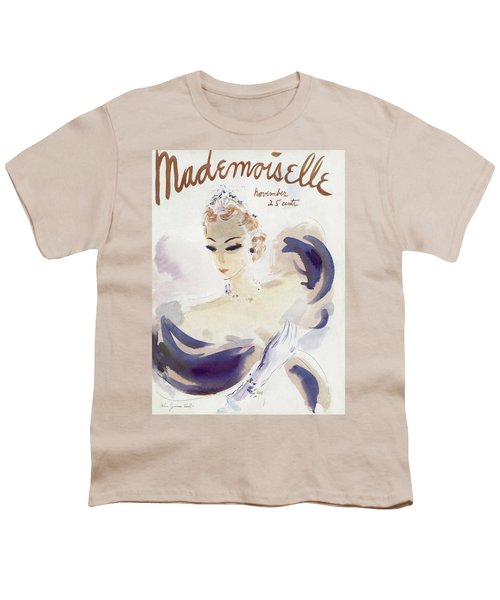 Mademoiselle Cover Featuring A Woman In A Gown Youth T-Shirt