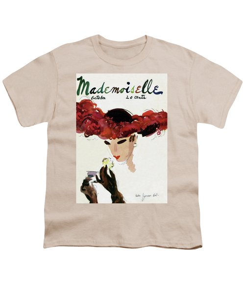 Mademoiselle Cover Featuring A Woman In A Red Youth T-Shirt