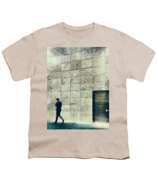 Youth T-Shirt featuring the photograph Man With Cell Phone by Silvia Ganora