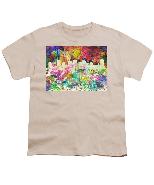 Nashville Skyline Watercolor 7 Youth T-Shirt