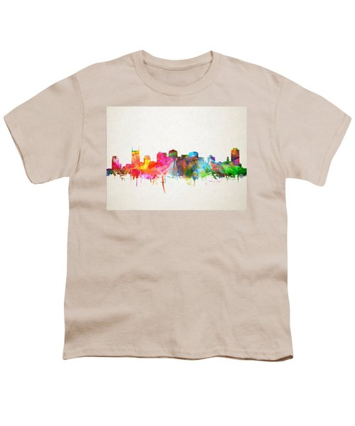 Nashville Skyline Watercolor 9 Youth T-Shirt