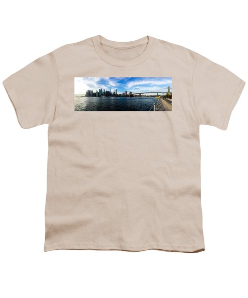 New York Skyline - Color Youth T-Shirt by Nicklas Gustafsson