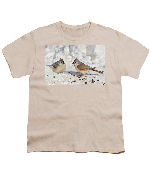 Nice Pair Of Titmice Youth T-Shirt