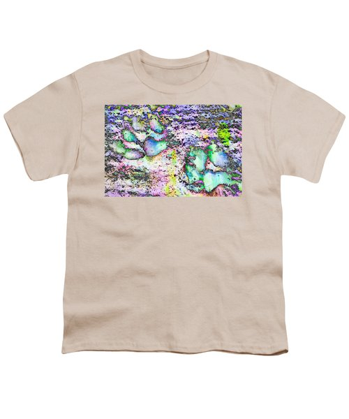Paw Prints Vibrant Pastel Youth T-Shirt