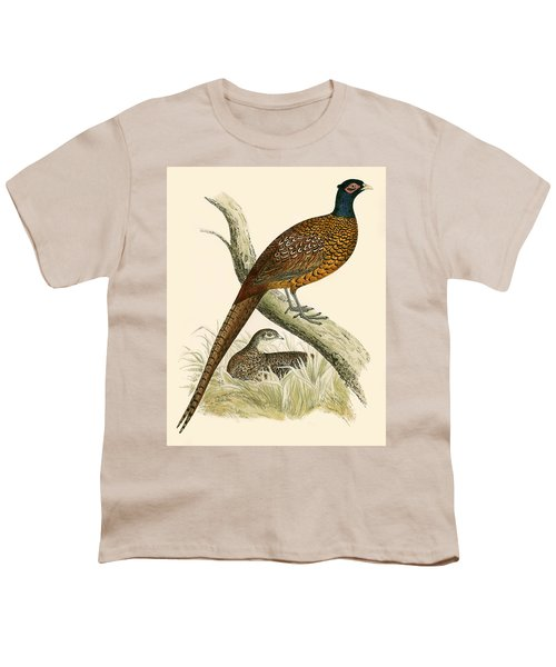 Pheasant Youth T-Shirt by Beverley R Morris