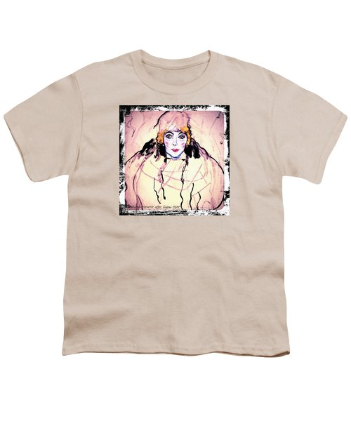 Portrait Of A Lady En Face After Gustav Klimt Youth T-Shirt by Anna Porter
