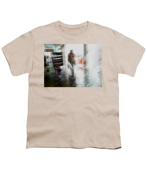 Youth T-Shirt featuring the photograph Pounding The Pavement by Alex Lapidus