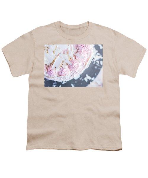 Raspberry White Chocolate Cake Youth T-Shirt