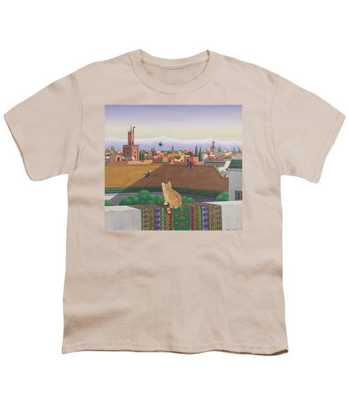 Rooftops In Marrakesh Youth T-Shirt by Larry Smart