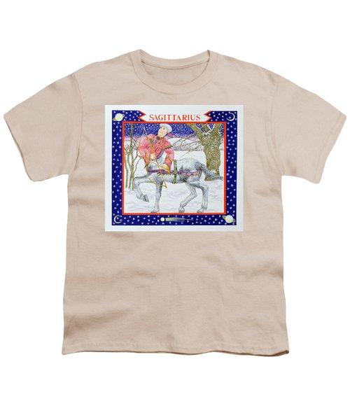 Sagittarius Wc On Paper Youth T-Shirt by Catherine Bradbury