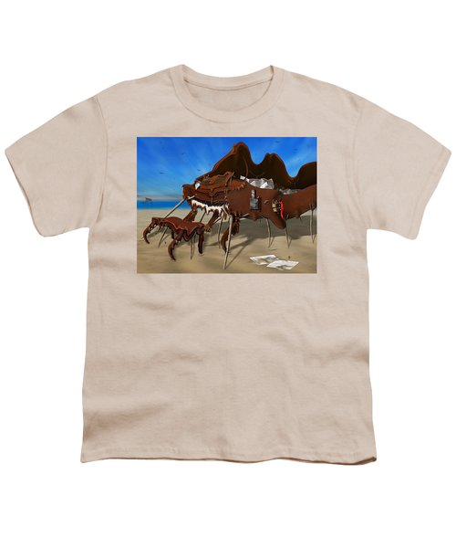 Soft Grand Piano With Camera - Panoramic Youth T-Shirt