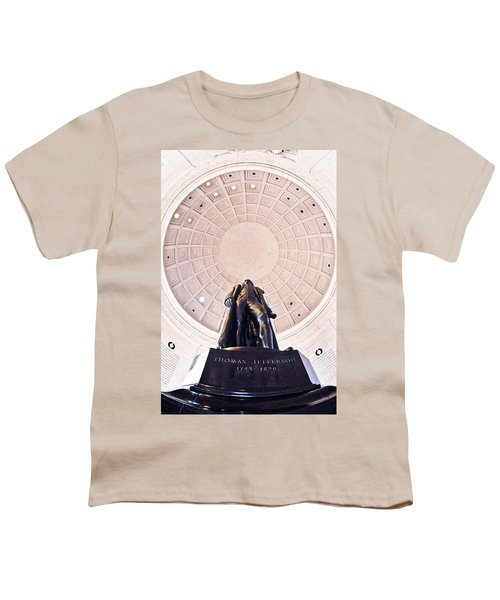 Statue Of Thomas Jefferson Youth T-Shirt by Panoramic Images
