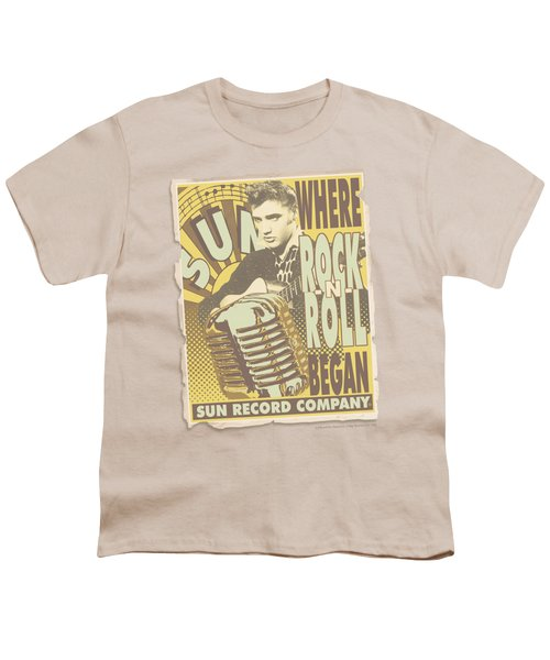 Sun - Rock N Roll Began Poster Youth T-Shirt