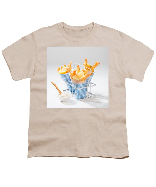 Tempura Prawns Youth T-Shirt by Amanda Elwell