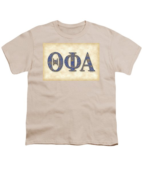 Theta Phi Alpha - Parchment Youth T-Shirt by Stephen Younts