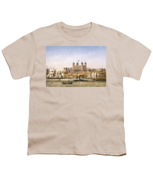Tower Of London, 1862 Youth T-Shirt by Achille-Louis Martinet