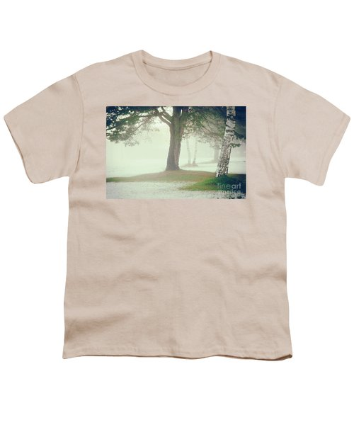 Youth T-Shirt featuring the photograph Trees In Fog by Silvia Ganora