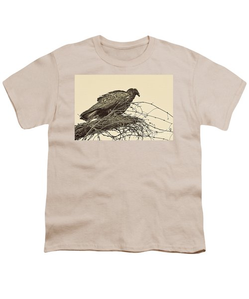 Turkey Vulture V2 Youth T-Shirt by Douglas Barnard