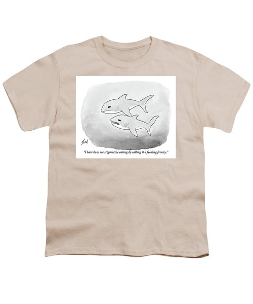 Two Sharks Talking About Eating Youth T-Shirt
