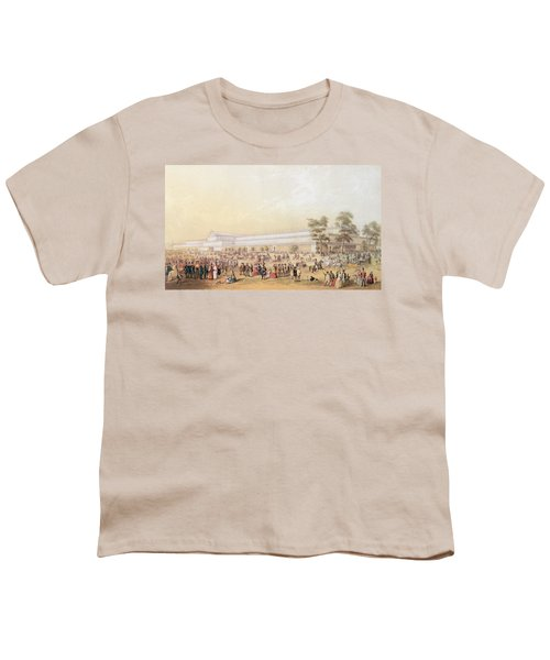 View Of The Crystal Palace Youth T-Shirt by George Baxter