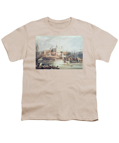 View Of The Tower Of London Youth T-Shirt by John Gendall