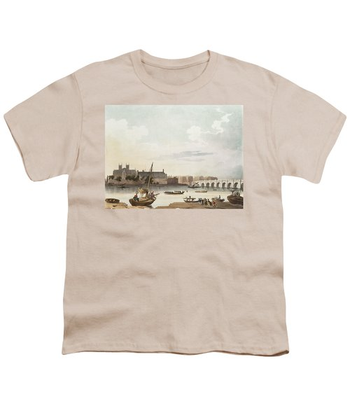 View Of Westminster And The Bridge Wc On Paper Youth T-Shirt by English School