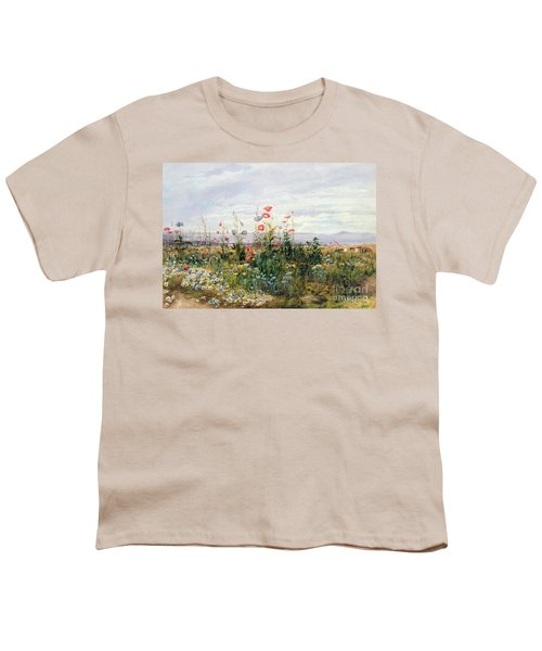 Wildflowers With A View Of Dublin Dunleary Youth T-Shirt