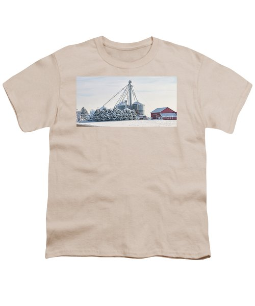 Winter Farm  7365 Youth T-Shirt by Jack Schultz