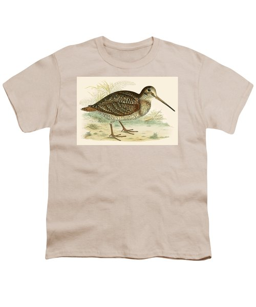 Woodcock Youth T-Shirt by Beverley R Morris