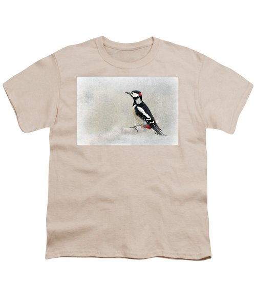 Woodpecker Youth T-Shirt by Heike Hultsch
