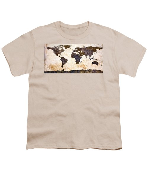 World Map Abstract Youth T-Shirt