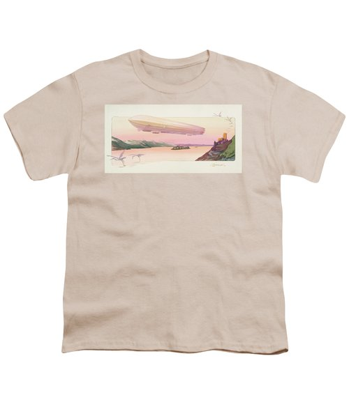 Zeppelin, Published Paris, 1914 Youth T-Shirt by Ernest Montaut