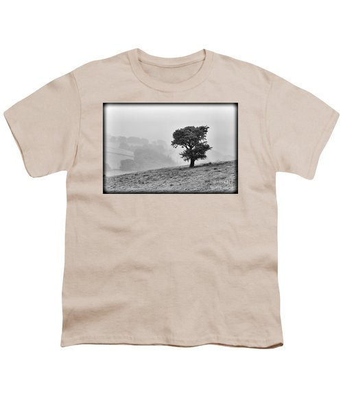 Youth T-Shirt featuring the photograph Oak Tree In The Mist. by Clare Bambers