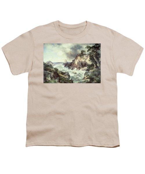 Point Lobos At Monterey In California Youth T-Shirt by Thomas Moran