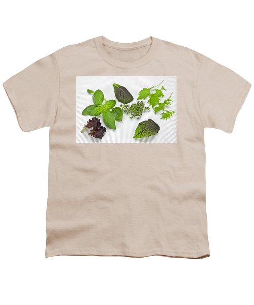 Salad Greens And Spices Youth T-Shirt by Joana Kruse