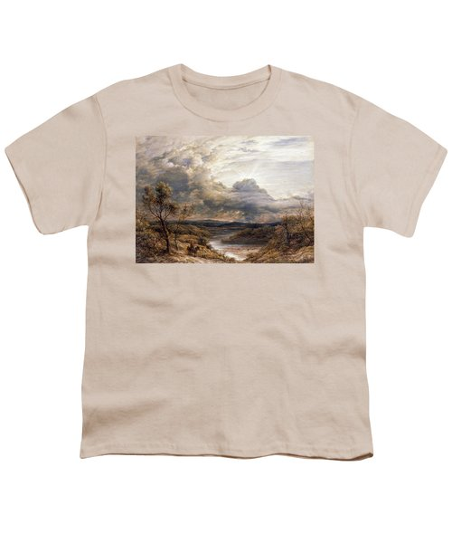 Sun Behind Clouds Youth T-Shirt by John Linnell