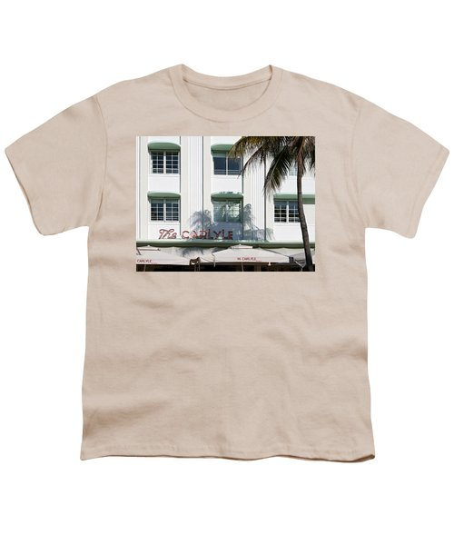 The Carlyle Hotel 2. Miami. Fl. Usa Youth T-Shirt