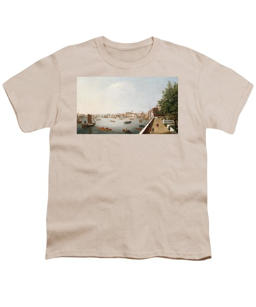 View Of The River Thames From The Adelphi Terrace  Youth T-Shirt by William James