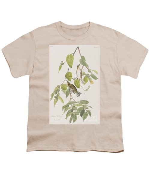 Autumnal Warbler Youth T-Shirt by John James Audubon