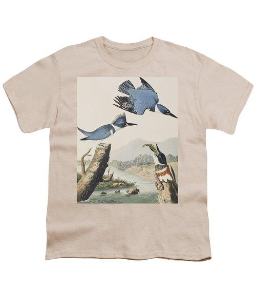 Belted Kingfisher Youth T-Shirt by John James Audubon