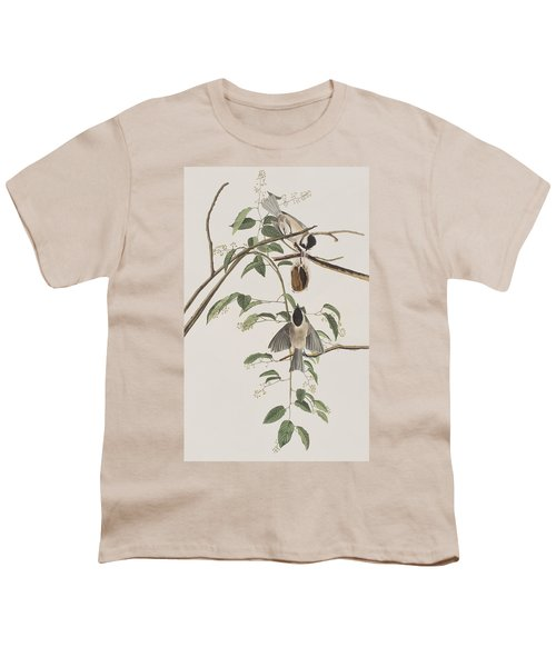 Black Capped Titmouse Youth T-Shirt