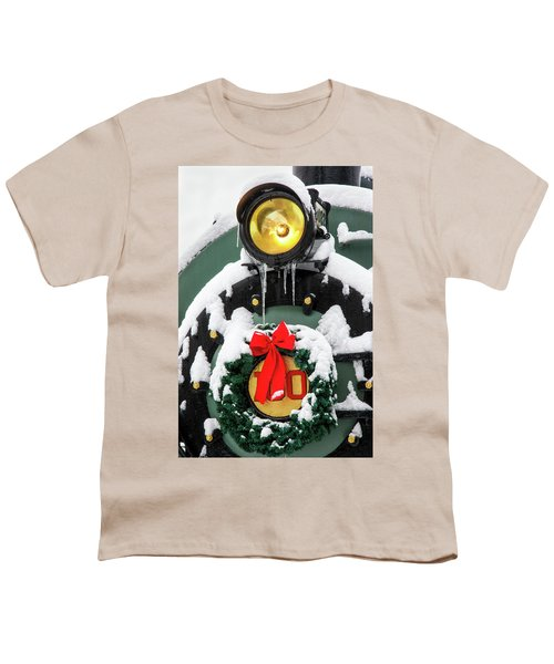 Christmas Train At Pacific Junction Youth T-Shirt